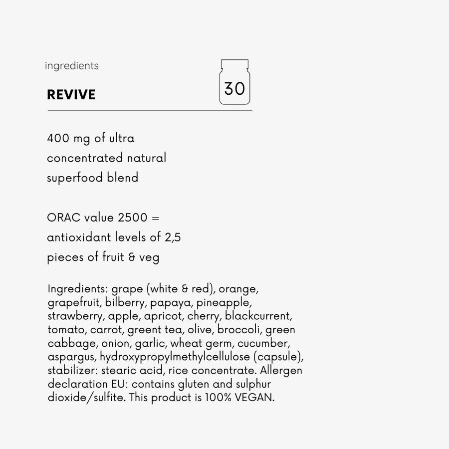 revive ingredients